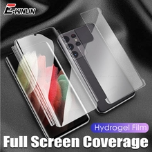 Soft Clear Screen Protector Voor Samsung Galaxy Note 20 10 S21 S20 S10 S10e Plus Ultra Hd Tpu Hydrogel Film grens Frame Sticker