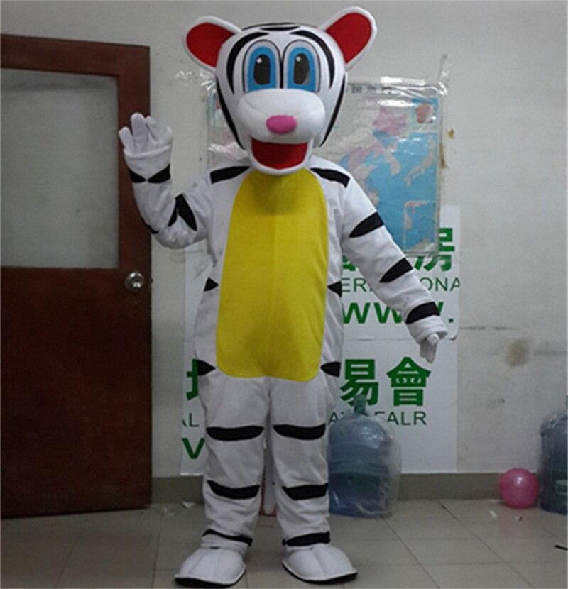 Costume de mascotte de tigre blanc offre spéciale personnage de dessin animé adulte Costume mignon costumes de fête d'halloween taille adulte