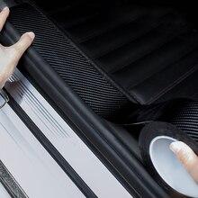 Coche Umbral de puerta Borde de puerta Protector de fibra de carbono pegatinas para Audi A1 A3 A4 B6 B8 B9 A3 A5 A6 A7 A8 C5 Q7 Q3 Q5 SQ5 R8 TT S5 S6