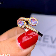 opening design natural blue tanzanite gem ring natural gemstone ring s925 silver trendy triangle snake women party gift jewelry KJJEAXCMY fine jewelry 925 sterling silver inlaid natural Tanzanite new Female ring trendy Support Detection
