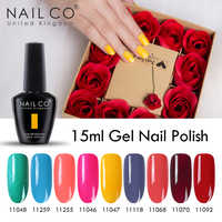 NAILCO Vernis Polonês Gel Definir Tudo Para Manicure Semi Permanente 15ml Gellak Hybird UV Gel Unha Polonês Da Arte Do Prego projeto Manicure