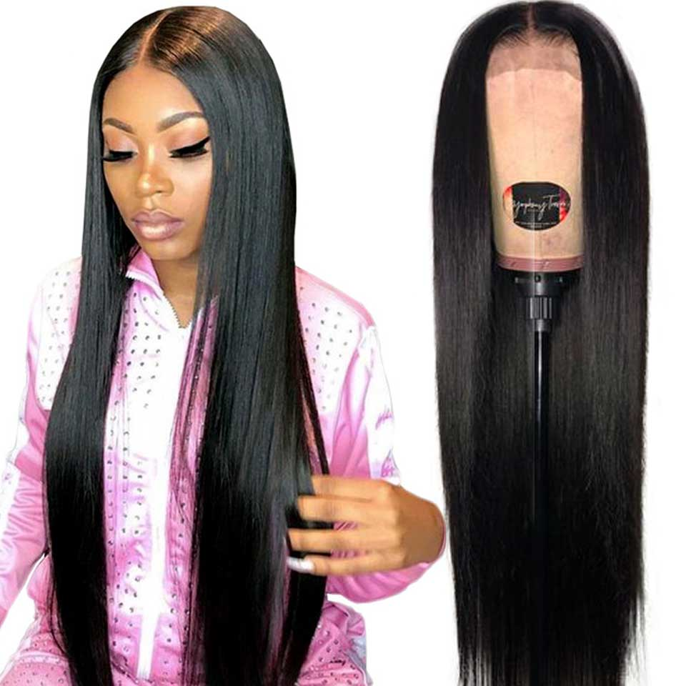 180% Straight Lace Front Human Hair Wigs Invisible Undetectable 13x4 Brazilian Transparent Lace Front Wigs For Black Women