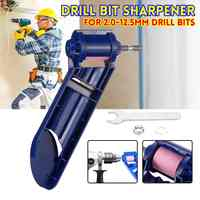 Drill Bit Sharpener 2-12.5mm Portable Corundum Grinding Wheel for Drill Polishing Grinder Tools for Drill Sharpener Power Tool