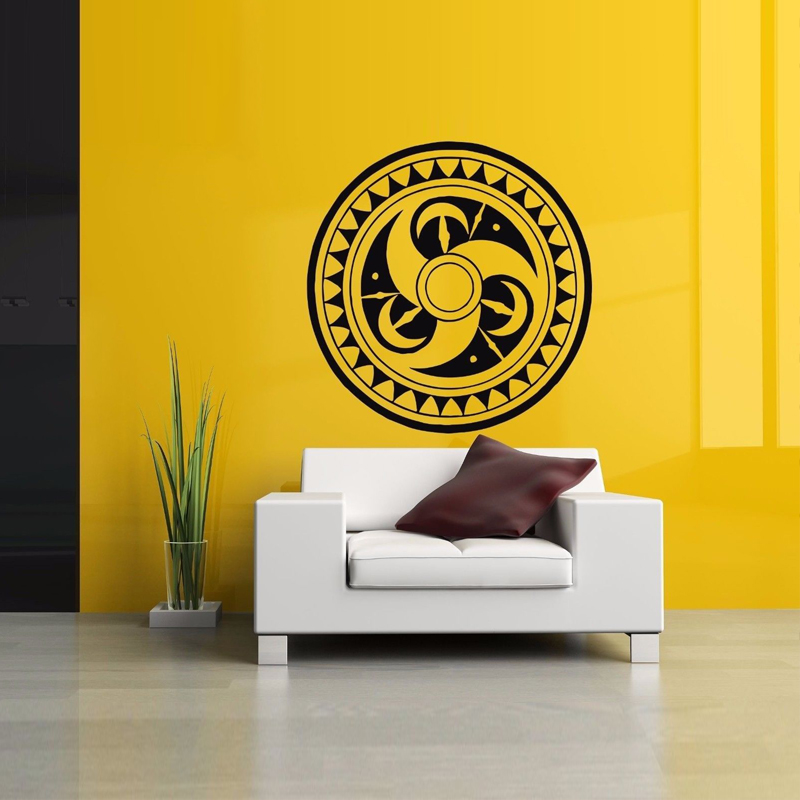 Tribal Circle Tattoo Poster Wallpaper Decals Living Room Decoration for Home Wall Sticker Bedroom Art Murals Vinyl LW332