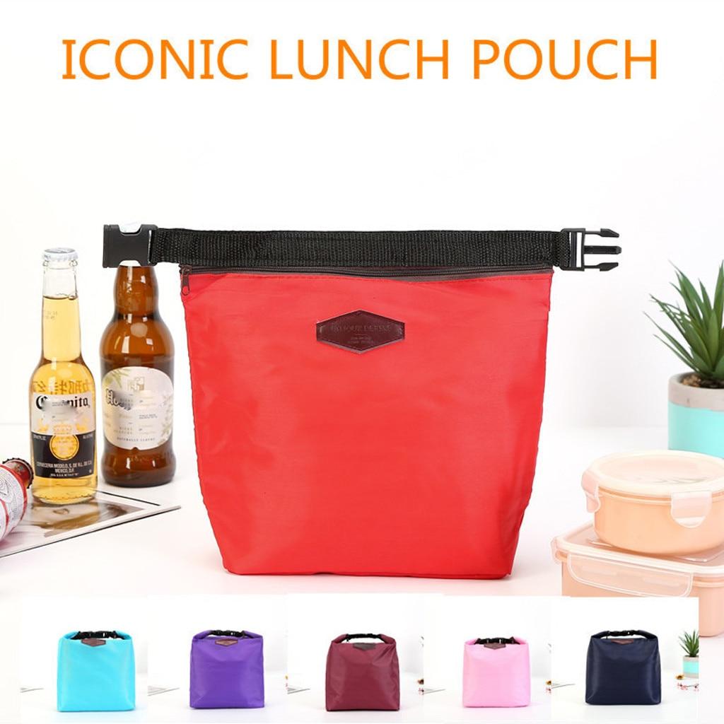 Lunch Bags Unisex Men Women Fashion Letter Printed Warm Insulation Aluminum Foil Tote Picnic Storage Bag Loncheras Para Almuerzo