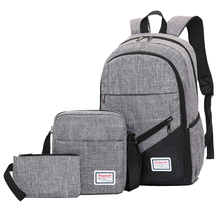 Fashion Flight Bag Men's Travel Backpack Female Youth Business Three-piece Computer Backpack audia flight cd three silver