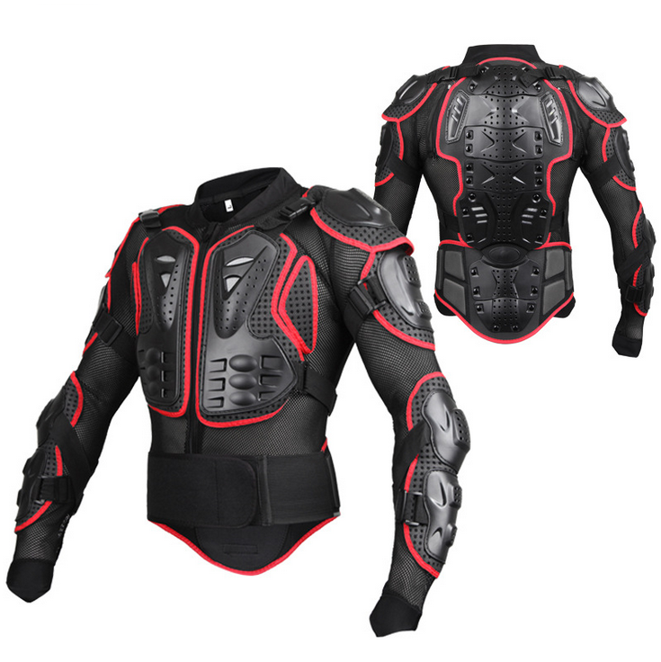 Protective Gear Motorcycle Jacket Men Full Body Motorcycle Armor Motocross Racing Motorcycle Jacket Riding Motorbike Protection