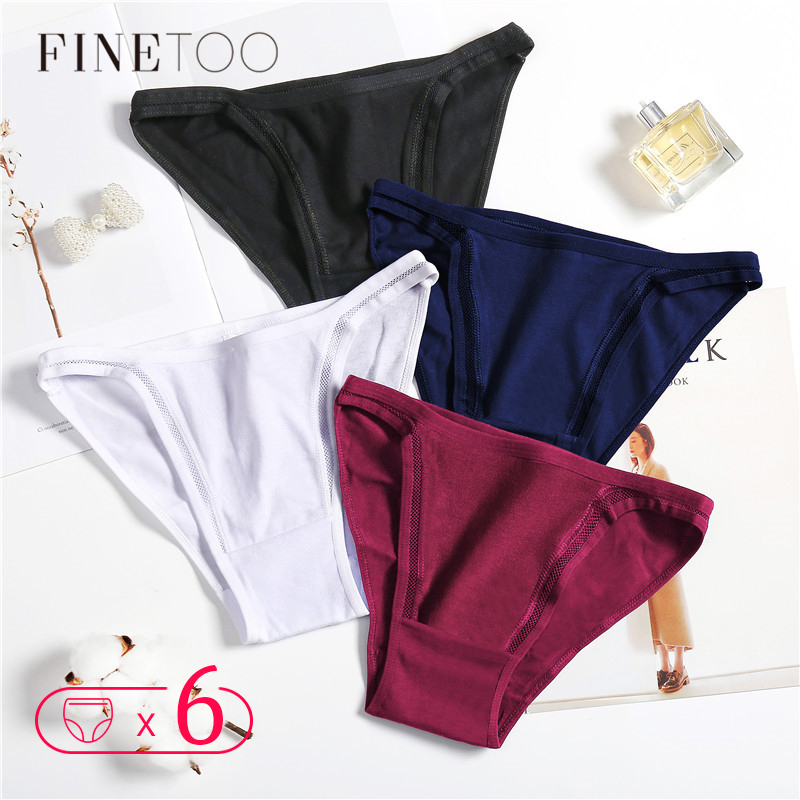 Sexy Women Panties 6pcs/set Female Underwear Low-Rise Hollow Cotton Briefs For Girls Sexy Lingerie Soft Ladies Underpants M-XL