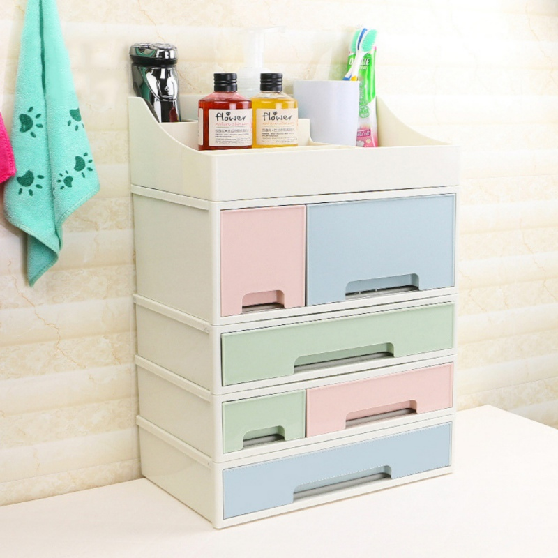 US $8.17 21% OFF|1PC Home Desktop Sundries Cosmetic Finishing Cabinet Multi  Layer Storage Boxes Bedroom Dressing Table Stackable Storage Box-in ...