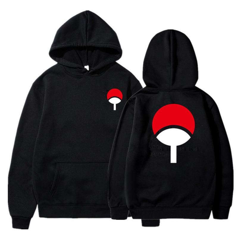 2019 New Anime Naruto Winter Hoodies Fleece Warm Jacket Coat Uchiha Hatake Uzumaki Clan Badge Hoodie Sweatshirt Unisex Clothes