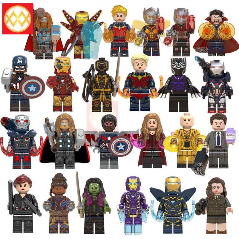 X0263 Scarlet Witch Shuri Gamora Wasp Pepper War Machine Captain America Super Hero Building Blocks Toys Gift Avengers Endgame