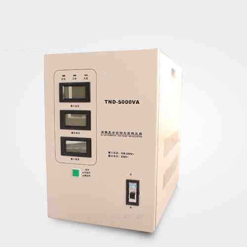 TND(SVC)-5KVA Single phase automatic voltage regulator 5000VA household AC voltage stabilizer LED for PC fridge air conditioner