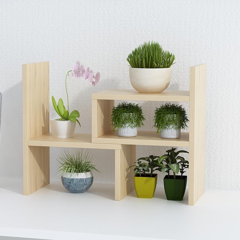Floral Shelf Space Multi-storey Indoor Solid Wood Living Room Balcony Household Storage Meat Floor Flower Shelf Saves Space