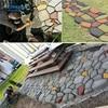 1Pcs DIY Manually Paving Cement Brick Concrete Molds Garden Plastic Stone Road Mold Garden Decoration For Garden Paving Tools discount