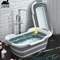 1PC Tragbare Klapp Badewanne Baby Dusche Tragbare Silikon Kapazität Waschen Lagerung Nicht Slip Hund Badewannen Fuß Spa bad Whirlpool-in Aufblasbare und tragbare Badewannen aus Heim und Garten bei