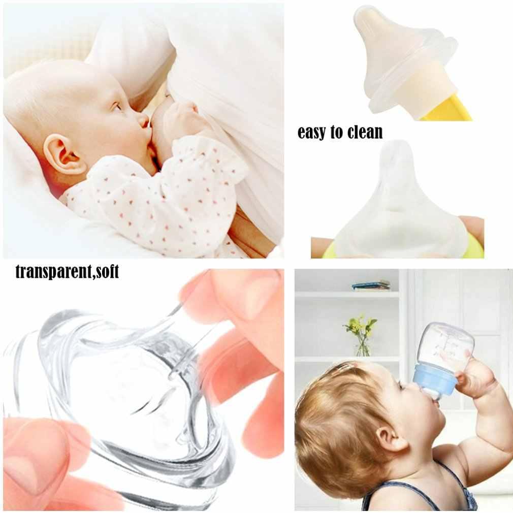 Przejrzyste dziecko karmienie piersią sutek dzieci silikonowe szeroki kaliber dla różnych butelka mleka smoczek dzieci sutek