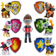 Paw Patrol Juguetes Cartoon Puppy Badge Patrulla Canina Action Figures Anime Puppy Patrol Kids Toys for Children Gifts 2A19