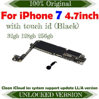 Dla iPhone 7 płyta główna z iOS oryginalna płyta główna dla iphone 7 płyta główna z chipami 32gb 128gb 256gb darmowa wysyłka tanie i dobre opinie TDHHX Wewnętrzny Apple iphone For iphone 7 motherboard For iphone 7 Logic board Original Disassemble Unlocked and used