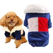 цена на Winter Warm Dog Coat Corduroy Soft Fleece Jacket Outwear for Dogs Cat Clothes Teddy Bichon XS S M L XL