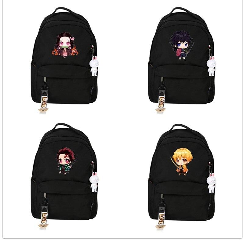 4 tipos de Anime Agatsuma Zenitsu Kamado Tanjirou demonio Slayer Kimetsu No Yaiba accesorios mochila modelo regalo
