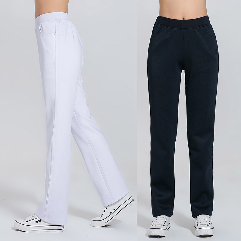 Spring And Autumn Athletic Pants WOMEN'S Pants Loose And Plus-sized Straight-Cut South Korean Silk Gymnastic Pants Women's High