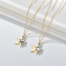 Trendy Silver Gold Chain Neklace With Pendant Moon Star Letter Chokers Necklaces For Women Best Friends Gift Drop Ship Wholesale(China)