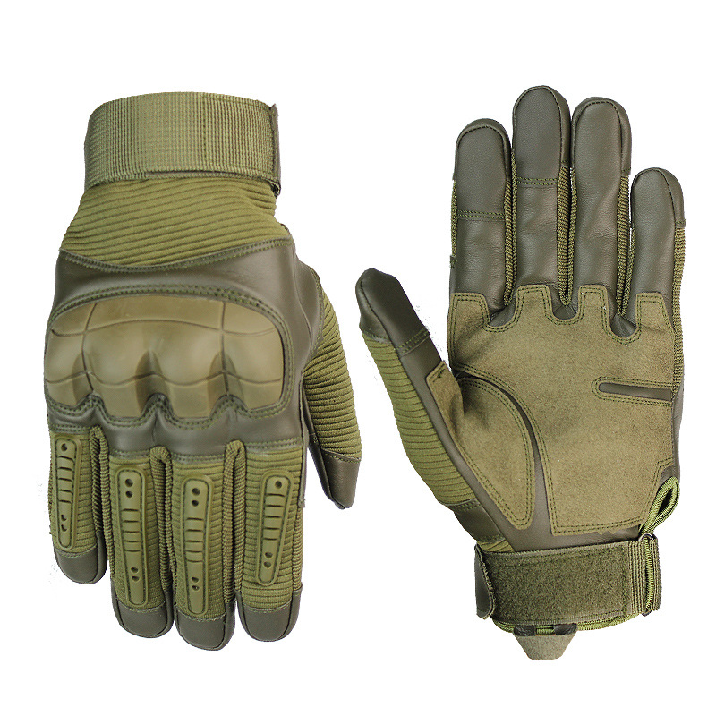 Wanderung Volle Finger Handschuhe Männer Touchscreen Taktische Gummi Harte Knuckle Volle Finger Handschuhe <font><b>Military</b></font> Armee Paintball Airsoft Fahrrad image