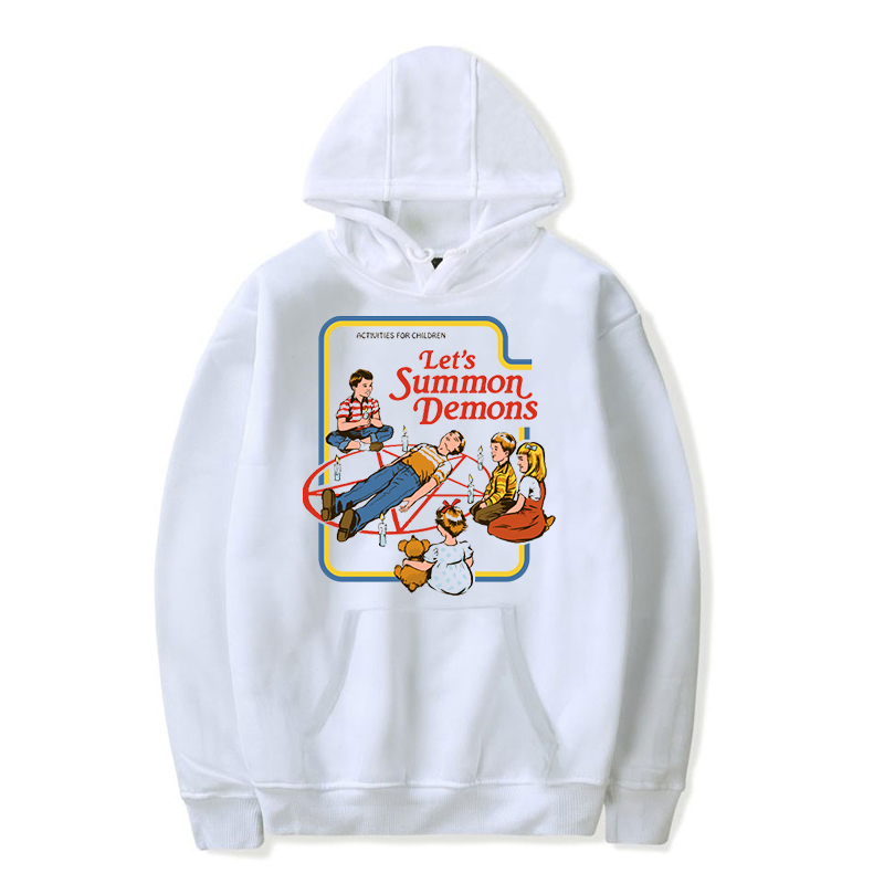 Let's Summon Demons Streetwear Hoodies Men Harajuku Sweatshirts Womens Clothing Hip Hop Sweatshirts Winter Clothes Harajuku Top