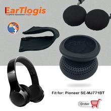 EarTlogis استبدال أجزاء ل بايونير SE MJ771BT SE MJ 771BT بلوتوث قطع الأذن الوفير قاء أذن غطاء وسادة الكؤوس وسادة Hea
