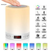 Цветной ночсветильник с беспроводной Bluetooth-колонкой, умный портативный сенсорный контроль, цветная светодиодная настольная лампа с поддер...