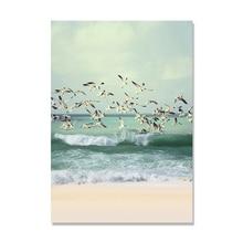 Настенная живопись на холсте морской пейзаж скандинавский постер