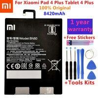 Originale Xiao Mi Tablet Batteria di Ricambio BN80 Per Xiaomi Pad 4 Plus Tablet 4 Plus di Alta Capacità di 8420mAh Batterie + Kit di strumenti di