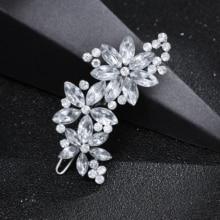 New Style Crystal Rhinestone Bridal Wedding Flower Hairgrips Hairpins Hair Clip Hair Jewelry Women Hair Jewelry