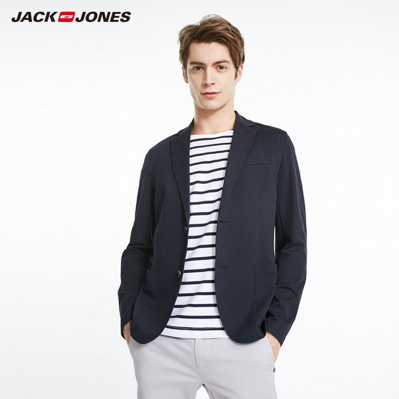JackJones Men's New Arrival Business Casual Stretch Cotton Blazer Menswear Style| 219208507