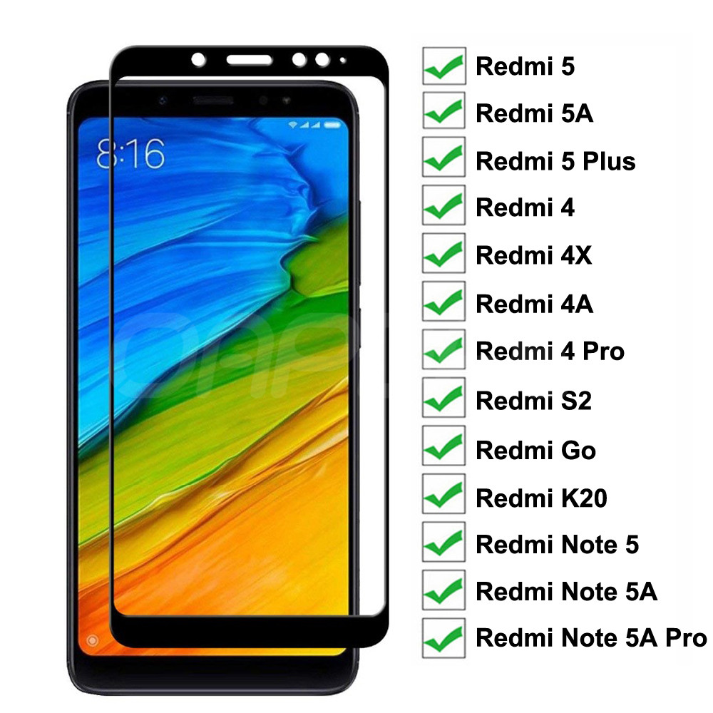 200D Tempered Glass On For Xiaomi Redmi Note 5 5A Pro S2 Redmi 5 Plus 5A 4 4X 4A Go K20 Screen Protector Safety Protective Film