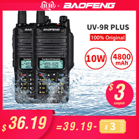 10W Baofeng UV 9R Plus Walkie Talkie IP67 Waterproof Dual Band Two Way Radio 10KM 9R Plus Portable CB Ham Radios HF Transceiver