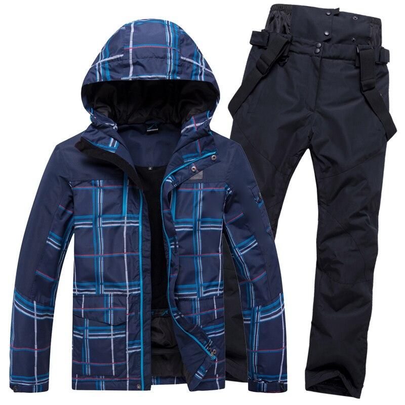 Ski Suit Men Winter Warm Windproof Waterproof Outdoor Sports Snow Jackets And Pants Hot Ski Equipment Snowboard Jacket Men