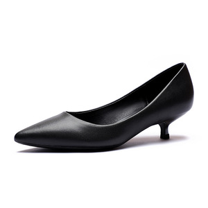 Image 4 - Office Lady Career Dress Solid Black Thin High Heels Shoes Woman Soft Slip On Elegant Classics Pointed Toe Pumps Heels Sandals