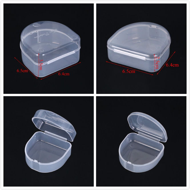 1pc Orthodontic Retainer Case Dental Tray Box Denture Storage Orthodontic Braces Mouthpiece Organizer Oral Health Care