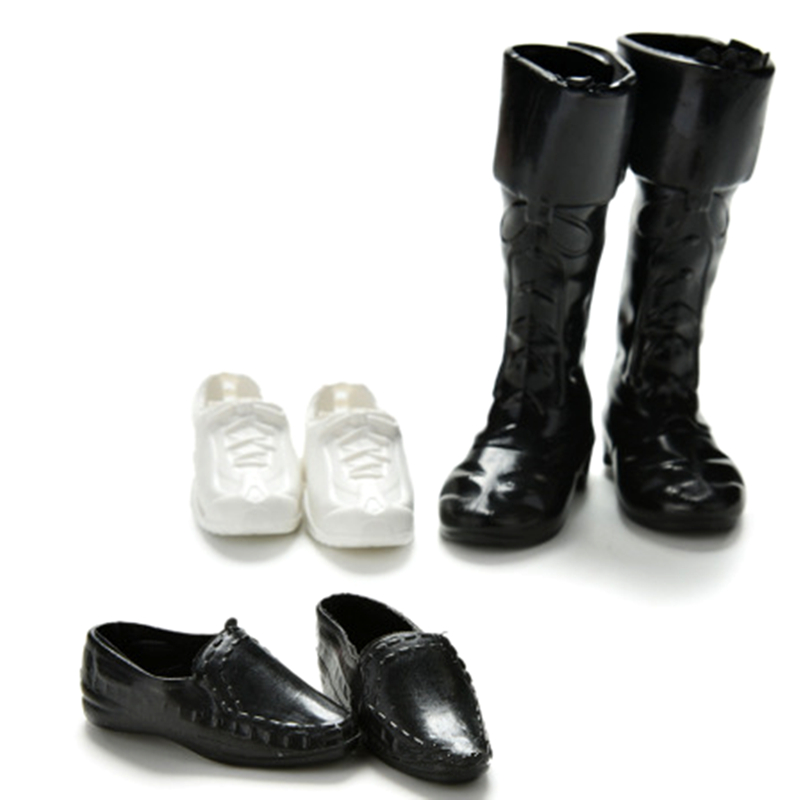 3 Pairs Of Shoes Set For Ken The Boy Friend Barbie Doll BJD Clothes Accessories Play House Dressing Up Costume Kids Toys Gift