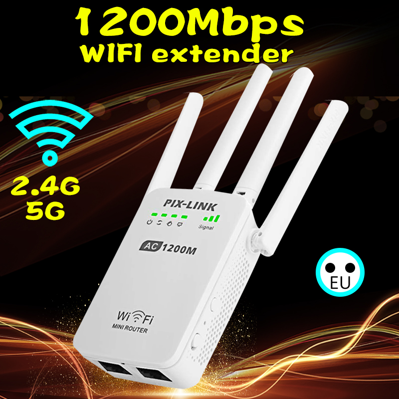 Repetidor-Booster Extender Wifi 1200mbps Xiaomi Wireless 4g Firewall for Versterker title=