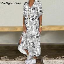 Summer New Design Geometric Print Ladies Shirt Dress Women's Clothing Dresses Women Casual Short Sleeve Multi Color V Neck