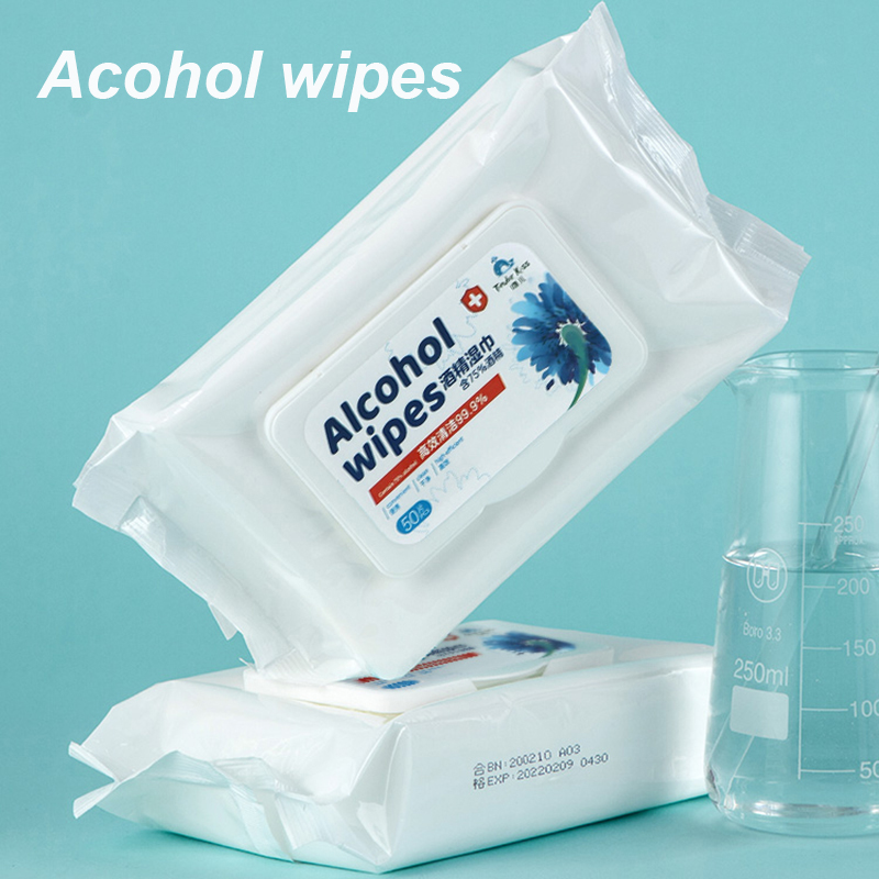 Disposable Alcohol Wipes Sterilization Portable Wipes Antibacterial Cleaning Skin Cleaning Care Disinfectant Wipes