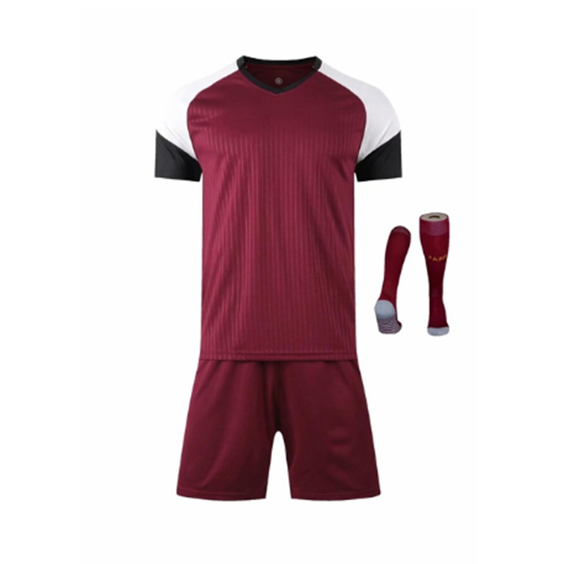 Children Sets football uniforms boys and girls sports kids youth training suits blank custom print soccer set with socks 14
