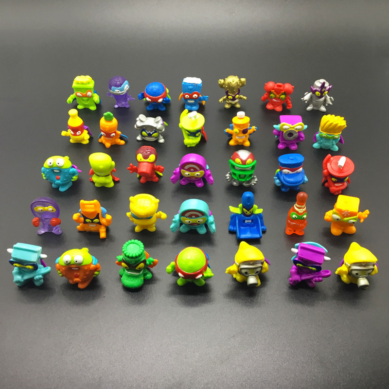 10-100pcs Super Zings Zomlings Trash Action Figures Dolls 3CM Anime SuperZings Garbage Doll Model Toy For Children Playing Gift