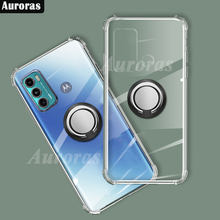 Auroras Cho Motorola G60 Ốp Lưng Chống Rơi Túi Khí Ốp Lưng Trong Suốt Chống Sốc Với Vòng Dành Cho Moto G60 Bao