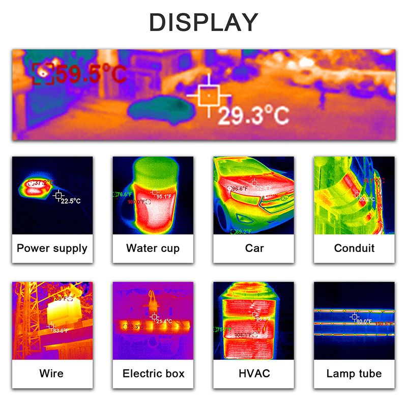 Handheld IR Thermal Imaging Camera With High-Resolution TFT Color Screen Display 17