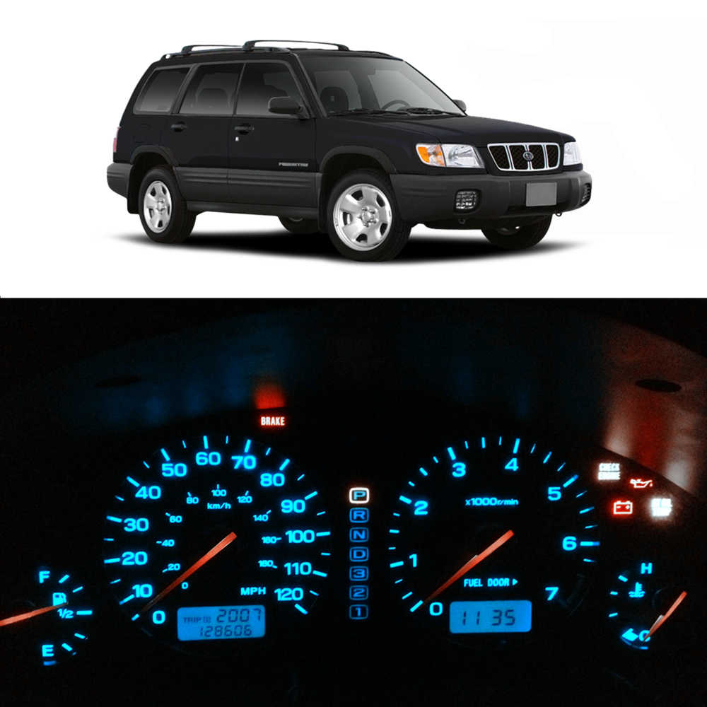 Wljh 8X12 V Dash Lampu Bohlam Instrumen Cluster Panel Gauge LED Light Kit Cocok Subaru Forester 1997 1998 1999 2000 2001 2002