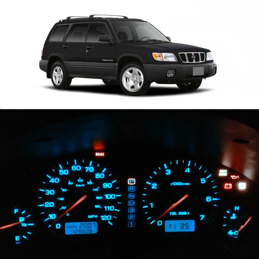 Wljh 8X12 V Dash Lampu Bohlam Instrumen Cluster Panel Gauge LED Light Kit Cocok Subaru Forester 1997 1998 1999 2000 2001 2002