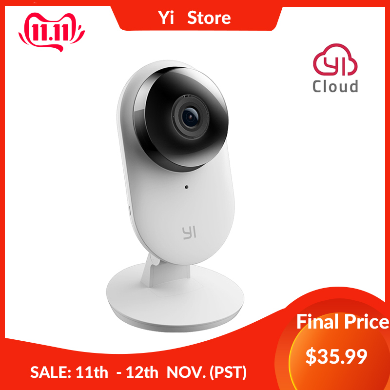 Cameră de pornire Yi 2 Cameră inteligentă 1080p FHD Securitate casnică Mini cameră web Cameră wireless wireless Vision Viziune de noapte US&EU Edition Android IOS CMOS
